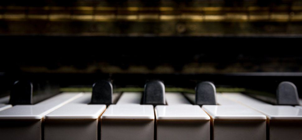 A close up of keys on a piano
