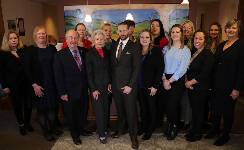 Group photo of the entire staff at Kroll Law Firm, LLP